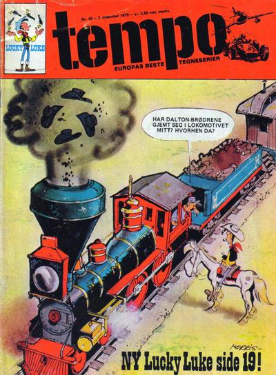 Cover for Tempo (Hjemmet / Egmont, 1966 series) #49/1975