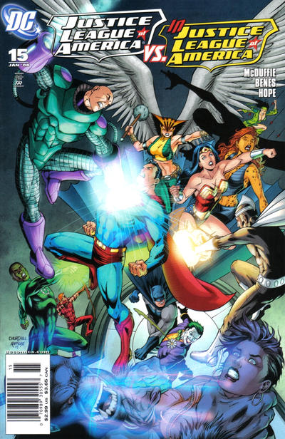 Cover for Justice League of America (DC, 2006 series) #15 [Direct]