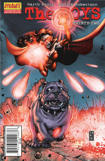Cover for The Boys (Dynamite Entertainment, 2007 series) #32 [Newsstand Edition]