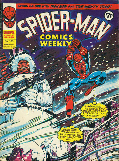 Cover for Spider-Man Comics Weekly (Marvel UK, 1973 series) #105