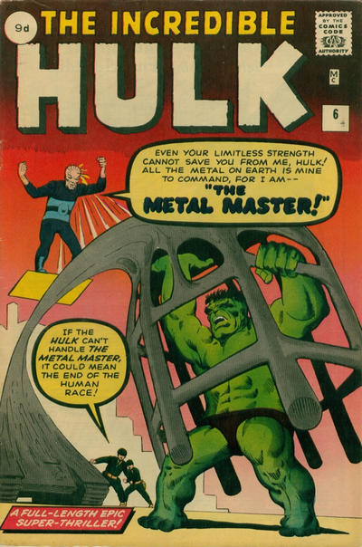 Cover for The Incredible Hulk (Marvel, 1962 series) #6 [Regular Edition]