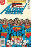 Cover Thumbnail for Action Comics (1938 series) #542 [Newsstand]