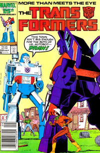 Cover Thumbnail for The Transformers (Marvel, 1984 series) #20 [Newsstand]