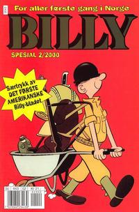 Cover Thumbnail for Billy Spesial (Hjemmet / Egmont, 1998 series) #2/2000