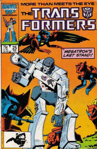 Cover Thumbnail for The Transformers (Marvel, 1984 series) #25 [Direct]