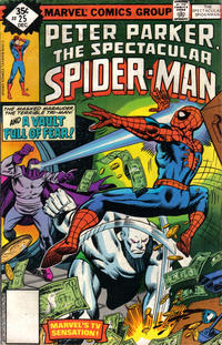 Cover for The Spectacular Spider-Man (Marvel, 1976 series) #25 [non-newsstand bagged]