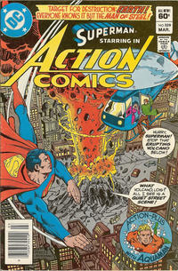 Cover Thumbnail for Action Comics (DC, 1938 series) #529 [Newsstand]