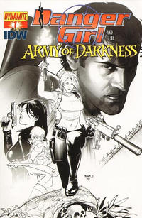 Cover Thumbnail for Danger Girl and the Army of Darkness (Dynamite Entertainment, 2011 series) #1 [Paul Renaud Black & White Retailer Incentive Cover]