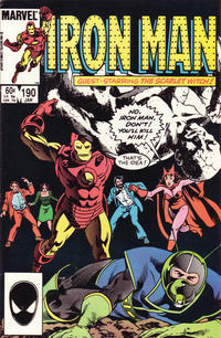 Cover for Iron Man (Marvel, 1968 series) #190 [Direct Edition]