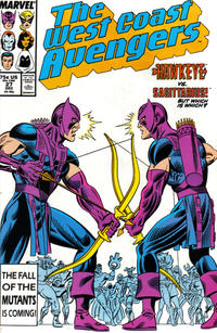 Cover Thumbnail for West Coast Avengers (Marvel, 1985 series) #27 [Direct Edition]