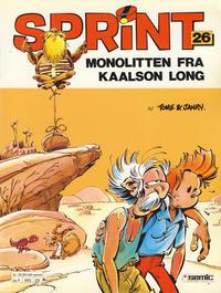 Cover Thumbnail for Sprint (Semic, 1986 series) #26 - Monolitten fra Kaalson Long [2. opplag]
