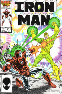 Cover for Iron Man (Marvel, 1968 series) #211 [Direct Edition]
