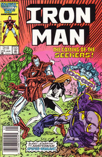 Cover Thumbnail for Iron Man (Marvel, 1968 series) #214 [Newsstand Edition]