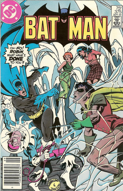 Cover for Batman (DC, 1940 series) #375 [Newsstand]