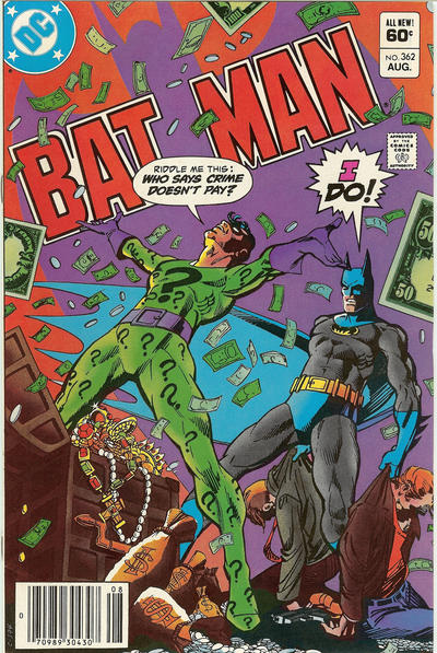Cover for Batman (DC, 1940 series) #362 [Direct]
