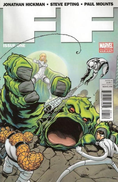Cover for FF (Marvel, 2011 series) #1 [Newsstand Edition]