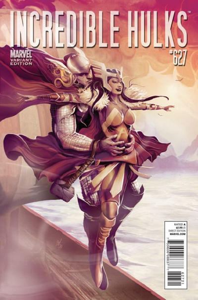 Cover for Incredible Hulks (Marvel, 2010 series) #627 [Thor Goes Hollywood Variant Edition]