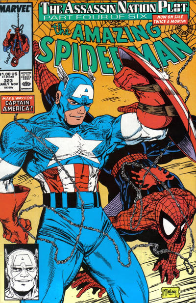 Cover for The Amazing Spider-Man (Marvel, 1963 series) #323 [Newsstand Edition]