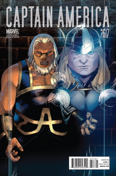 Cover for Captain America (Marvel, 2005 series) #617 [Thor Goes Hollywood]