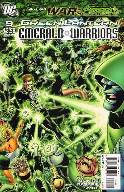 Cover for Green Lantern: Emerald Warriors (DC, 2010 series) #9
