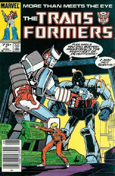 Cover for The Transformers (Marvel, 1984 series) #7 [Newsstand Edition]