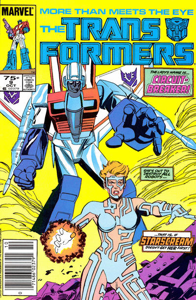 Cover for The Transformers (Marvel, 1984 series) #9 [Direct]