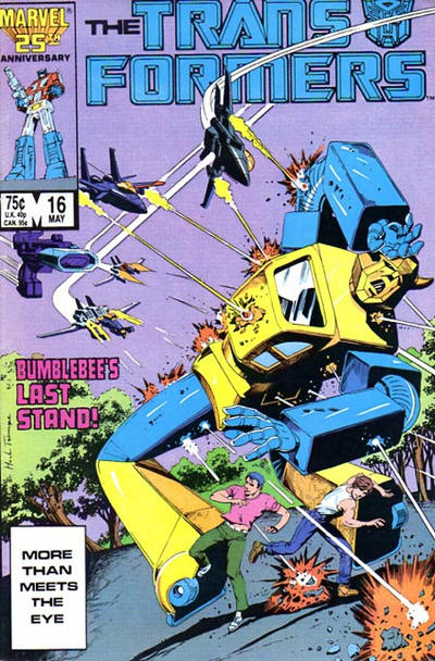 Cover for The Transformers (Marvel, 1984 series) #16 [Newsstand]