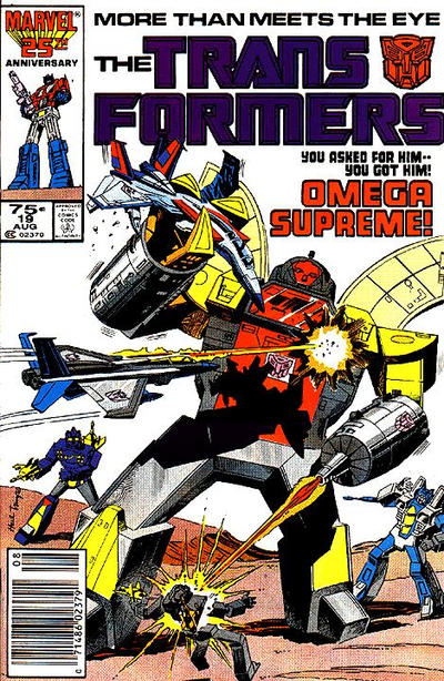 Cover for The Transformers (Marvel, 1984 series) #19 [Direct]