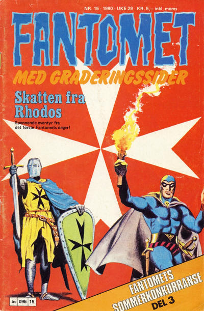 Cover for Fantomet (Semic, 1976 series) #15/1980