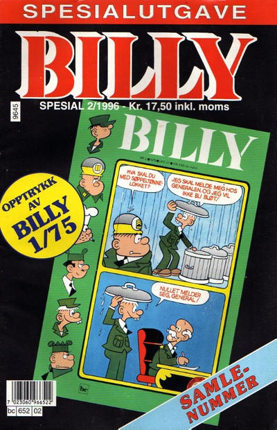 Cover for Billy Spesial (Semic, 1992 series) #2/1996