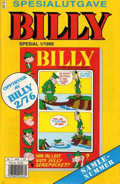 Cover for Billy Spesial (Hjemmet / Egmont, 1998 series) #1/1999