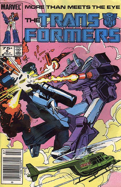 Cover for The Transformers (Marvel, 1984 series) #6 [Newsstand Edition]