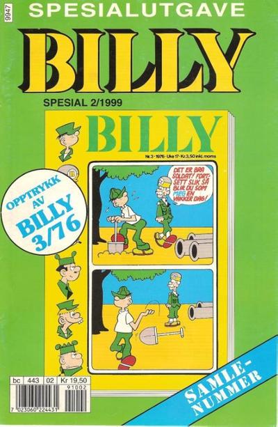 Cover for Billy Spesial (Hjemmet / Egmont, 1998 series) #2/1999