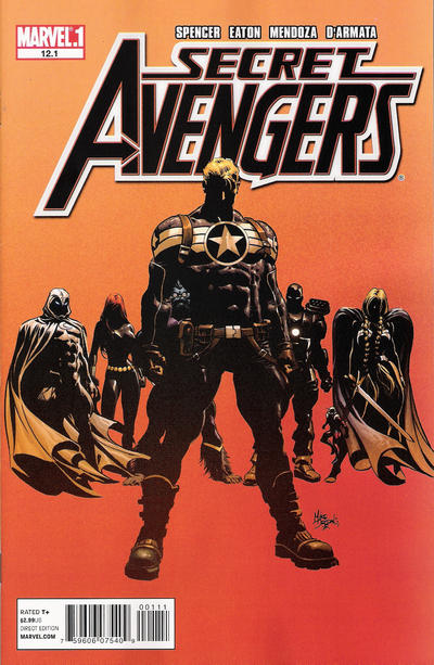 Cover for Secret Avengers (Marvel, 2010 series) #12.1