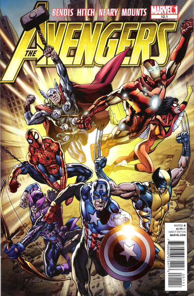 Cover for Avengers (Marvel, 2010 series) #12.1