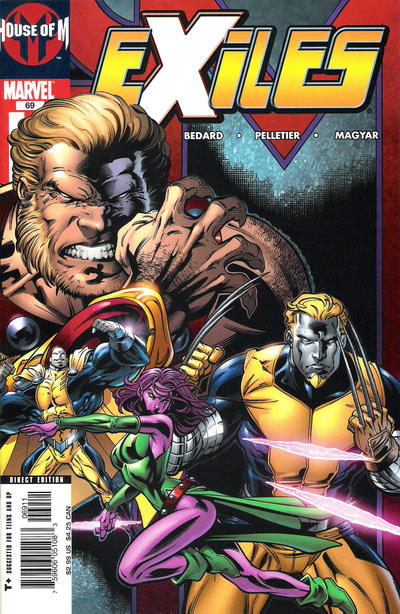 Cover for Exiles (Marvel, 2001 series) #69 [Direct Edition]