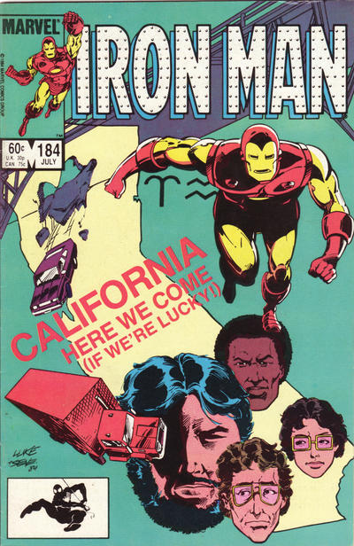 Cover for Iron Man (Marvel, 1968 series) #184 [Newsstand]