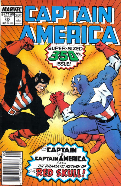 Cover for Captain America (Marvel, 1968 series) #350 [Newsstand Edition]
