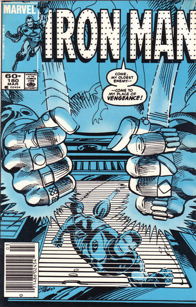 Cover for Iron Man (Marvel, 1968 series) #180 [Newsstand]