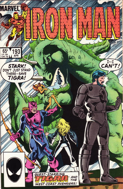 Cover for Iron Man (Marvel, 1968 series) #193 [Direct Edition]
