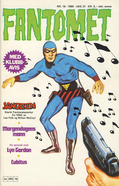 Cover for Fantomet (Semic, 1976 series) #16/1980