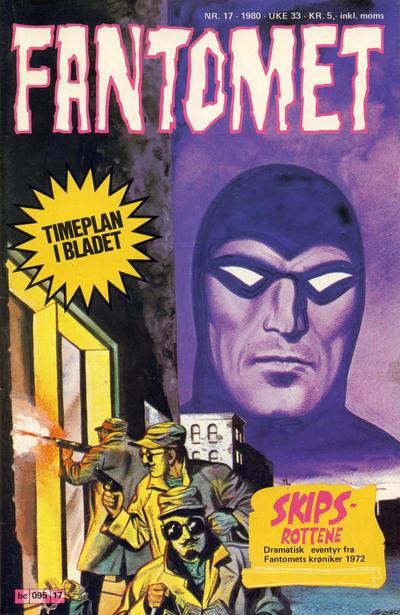 Cover for Fantomet (Semic, 1976 series) #17/1980
