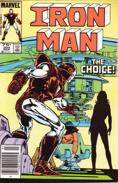 Cover for Iron Man (Marvel, 1968 series) #204 [Newsstand Edition]