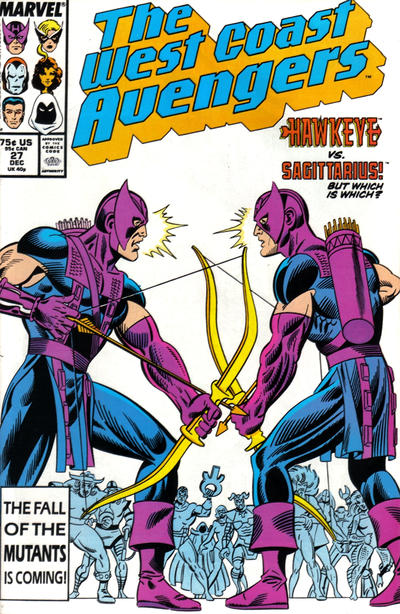 Cover for West Coast Avengers (Marvel, 1985 series) #27 [Newsstand Edition]