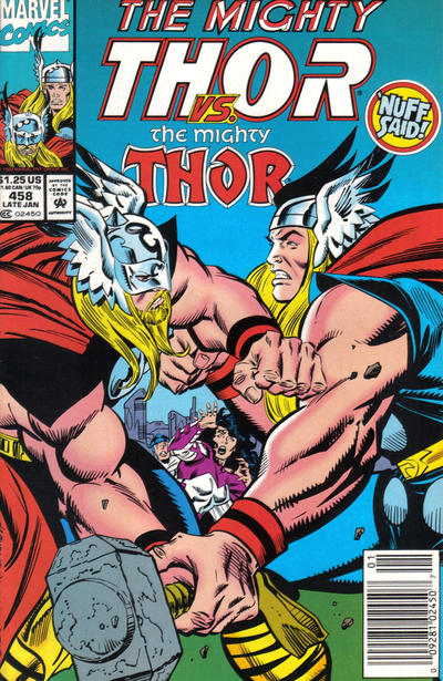 Cover for Thor (Marvel, 1966 series) #458 [Direct]