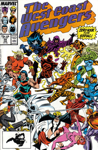 Cover for West Coast Avengers (Marvel, 1985 series) #28 [Newsstand Edition]