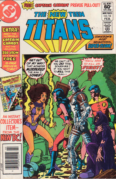 Cover for The New Teen Titans (DC, 1980 series) #16 [Newsstand]