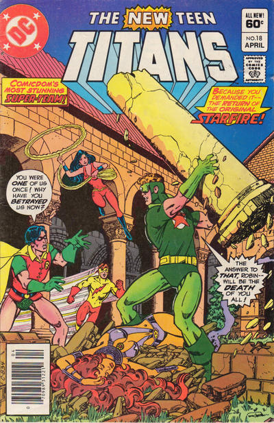 Cover for The New Teen Titans (DC, 1980 series) #18 [Direct]
