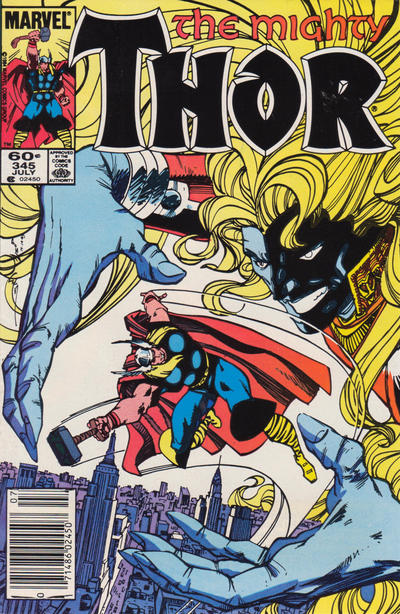 Cover for Thor (Marvel, 1966 series) #345 [Direct Edition]