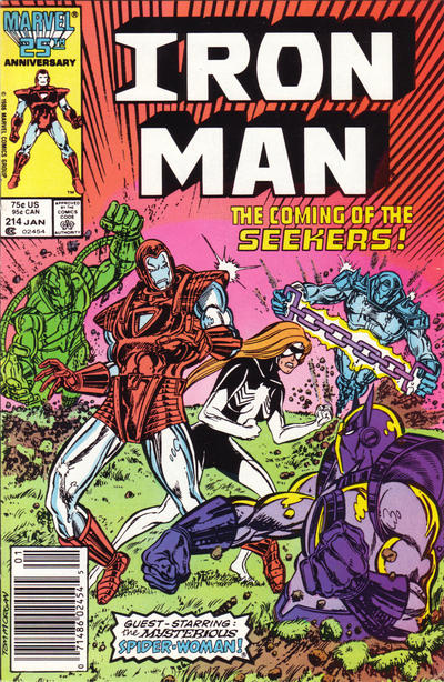 Cover for Iron Man (Marvel, 1968 series) #214 [Direct Edition]